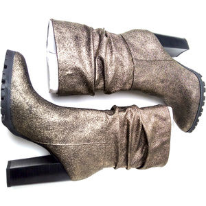 Katy Perry Raina Slouch Boots Pewter 9.5M